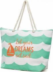 Geanta de Plaja Heinner Home Dreams 35X43 cm Green Genti de plaja