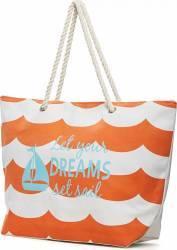 Geanta de Plaja Heinner Home Dreams 35X43 cm Orange Genti de plaja
