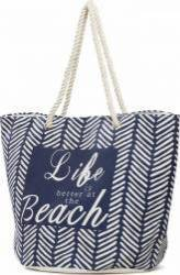 Geanta de Plaja Heinner Home Life 38X55 cm Albastru Genti de dama