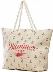 Geanta de Plaja Heinner Home Summer 35X43 CM Cream Genti de plaja
