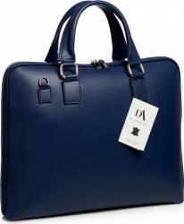 Geanta laptop 15.6 inch din piele naturala DiAmanti Rimini Blu Scuro Genti de dama