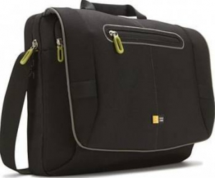 Geanta Laptop Case Logic Messenger 17 Black Green Genti Laptop