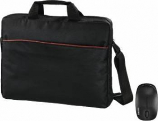 Geanta Laptop Hama Tortuga Mouse Cadou 15.6inch Neagra Genti Laptop