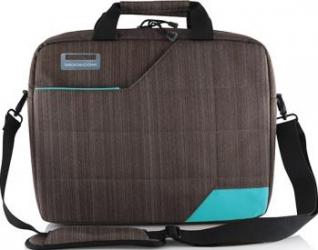Geanta laptop Modecom Montana 15.6 Gri cu Albastru Genti Laptop