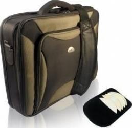 Geanta Laptop Natec Pitbull 17 inch Black-Olive Genti Laptop