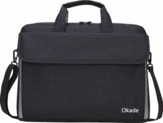 Geanta Laptop Okade T38 Rezistent la Apa 15.6 inch Negru + mini GPS Tracker Genti Laptop