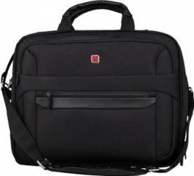 Geanta Laptop Wenger 17 inch Tripla Compartimentata Neagra Genti Laptop