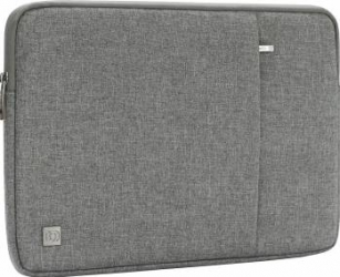 Geanta DOMISO pentru laptop macbook 14 inch compartimentata si rezistenta la apa gri Genti Laptop