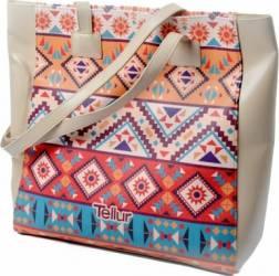 Geanta Plaja Tellur Fashion Line Summer Mosaic Accesorii Cosmetice