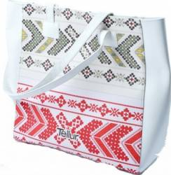 Geanta Plaja Tellur Fashion Line Summer Traditional White Accesorii Cosmetice