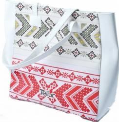 Geanta Plaja Tellur Fashion Line Summer Traditional White Accesorii Cosmetice