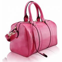 Geanta de mana roz din piele ecologica Leesun de dama LS7008A Genti de plaja