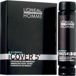 Gel colorant LOreal Professionnel Homme Cover 5 - 4 brown Vopsea de par