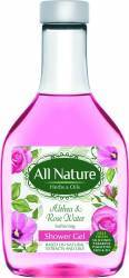Gel de dus All Nature Althea and Rose water 255ml Gel de dus, sapun lichid