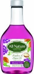 Gel de dus All Nature Angelica and Argan oil 255ml Gel de dus, sapun lichid