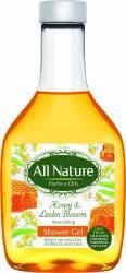 Gel de dus All Nature Honey and Linden blossom 255ml Gel de dus, sapun lichid