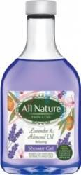 Gel de dus All Nature Lavender and Almond oil 255ml Gel de dus, sapun lichid