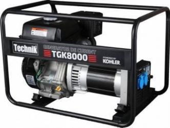 Generator de curent pe benzina fara carcasa insonorizanta portabil monofazat 6.8 kVA TECHNIK TGK8000 Uz general