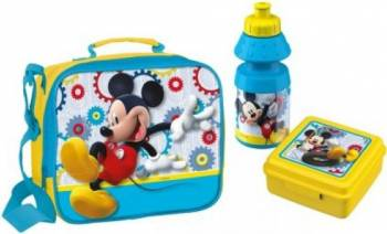 Gentuta gradinita Mickey Mouse BBS cu sticluta apa si caserola inclusa
