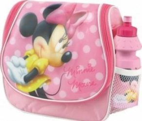 Ghiozdan gradinita Minnie Mouse BBS 121103 tip gentuta cu licenta si sticluta ap