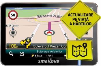 GPS Smailo HD 4.3 + Full Europa LMU Actualizari gratuite pe viata Navigatie GPS