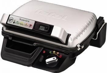 Gratar electric cu timer Tefal Super grill GC451B12 2000 W 4 Nivele InoxNegru Gratare electrice