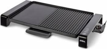 Gratar electric Sinbo SBG-7108 2000W Termostat cu 5 trepte Suprafata mare de gatire Negru Gratare electrice