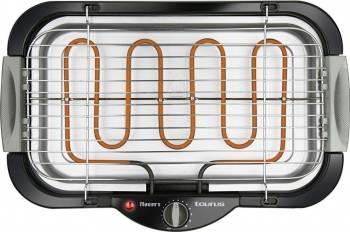 Gratar electric Taurus Maxim s 2000 W Tava cu apa Termostat Reglabil pe inaltime Argintiu/Negru Gratare electrice