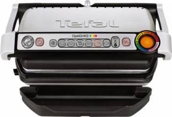 pret preturi Gratar electric TEFAL OptiGrill+ GC712D34 2000W 6 programe automate Argintiu