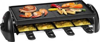 Gratar electric Trisa Racletto Party Grill 1800W Termostat reglabil Picioruse anti-alunecare Negru Gratare electrice