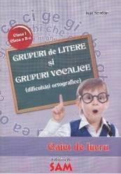 Grupuri de litere si grupuri vocalice. Caiet de lucru - Ioan Surdu