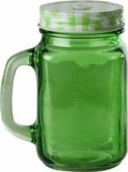 Halba tip borcan rosie + capac perforat, 400 ml Verde Articole pentru servit