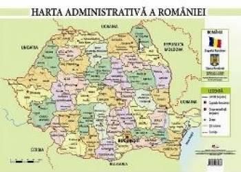 Harta administrativa a Romaniei - Plansa A2 Carti