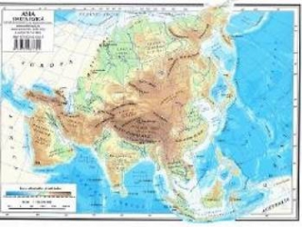 Harta Asia Fizica + Asia Politica