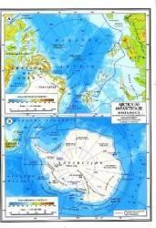 Harta Australia Si Oceania Fizica Si Politica + Arctica Si Antarctica Fizica