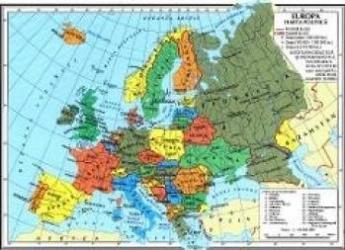 Harta Europa Fizica + Europa Politica