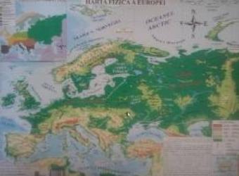 Harta Fizica A Europei + Harta Politica A Europei 1 20.000.0001 22.000.000
