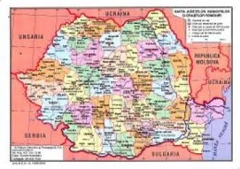 Harta Fizica A Romaniei + Harta Judetelor Municipiilor Si Oraselor Romaniei