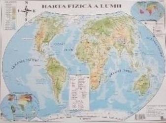 Harta politica a lumii + Harta fizica a lumii