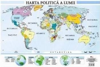 Harta politica a lumii - Plansa A2 Carti
