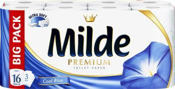 Hartie igienica Milde Ultra Soft - Cool Blue 16 role Hartie igienica si Accesorii baie