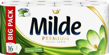 Hartie igienica Milde Ultra Soft - Energy Green 16 role