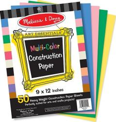 Hartie multicolora pentru proiecte de lucru manual Melissa and Doug Jucarii Interactive