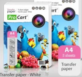 Hartie Procart transfer termic A4 pentru tricouri albe Hartie