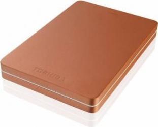 HDD Extern Toshiba Canvio ALU 2TB USB 3.0 2.5 inch Metallic Red Hard Disk uri Externe