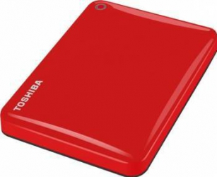 HDD Extern Toshiba Canvio Connect II 1TB USB 3.0 2.5 inch Red Hard Disk-uri Externe