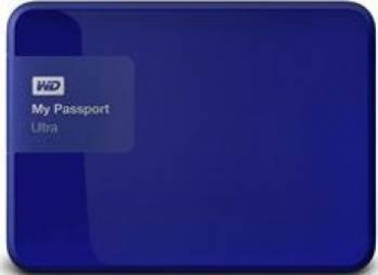 HDD extern Western Digital My Passport Ultra 1TB USB 3.0 2.5inch albastru