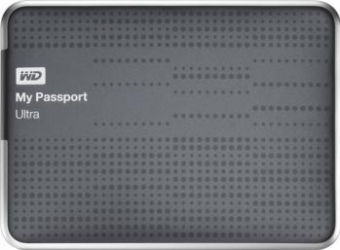 HDD extern Western Digital My Passport Ultra 2TB USB 3.0 2.5inch titanium model