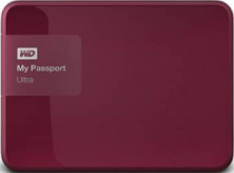 HDD extern Western Digital My Passport Ultra 2TB USB 3.0 2.5inch berry