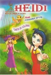 Heidi dupa Johanna Spyri - Carte de colorat